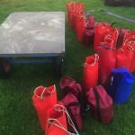 Sand bags - fuel for gas balloon