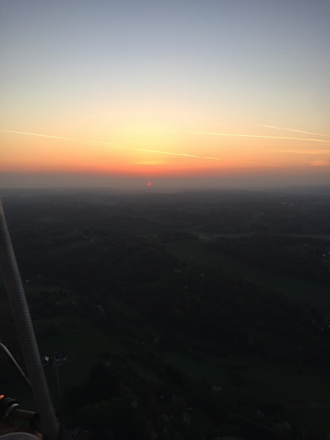 Sunrise from a gas balloon